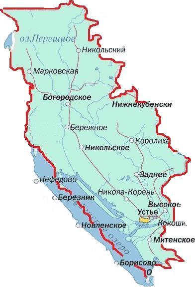 Карта области и района